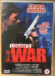 Logan's War DVD 1998 Martial Arts Action Film Movie with Chuck Norris
