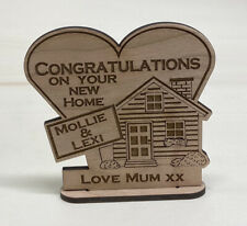 personalised House Warming Wooden Gift New Home Keepsake Wedding First Moving