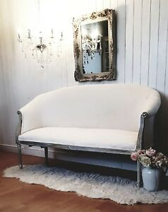 Antique French Sofa /Sttee Louis Style, Re-upholstered / Refurbished Completely