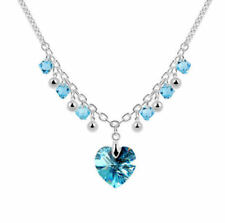 White Gold Aquamarine Fashion Necklaces & Pendants