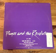 Take Me With U Prince and The Revolution Promotional Record 12 inch 33 rpm Vinyl