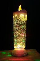 LED Kerze groß Farbwechsel Glitzer Weihnachtsdeko Kerzenlampe Weihnachtskerze