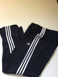 Adidas Athletic Y2k 2008 Sweat Pants Size M Navy Blue Polyester Logo Run