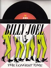 """BILLY JOEL The Longest Time PICTURE SLEEVE 7"""" 45 record + juke box title strip"""