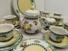 Villeroy & Boch French Garden Fleurence Tea set, cups & saucers, teapot etc.
