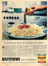 F- Publicité Advertising 1958 La Sauce Buitoni