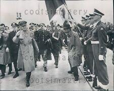 1951 General Douglas MacArthur Reviews Honor Guard Chicago Press Photo