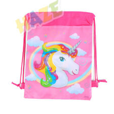 1pc Unicorn Non-Woven Drawstring Bag Kids Swimming Shool Backpack Storage Bag
