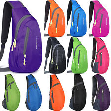 Men Foldable Chest Sling Pack Cross Body Trip Durable Sport Shoulder Bag Outdoor
