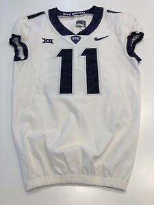 Game Worn Used Nike TCU Horned Frogs Football Jersey Size 38 #11