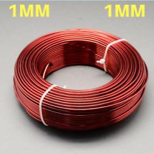 1mm Aluminium Craft Florist Wire Jewellery Making Fire Brick Red 10m lengths