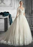 c101New White/ivory lace  Wedding dress Bridal Gown custom size2 4 6 8 10++
