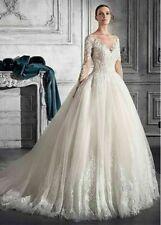 c101New White/ivory lace  Wedding dress Bridal Gown custom size2 4 6 8 10++
