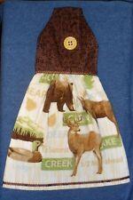 **NEW** Handmade North Woods Ducks, Bear, Moose Hanging Kitchen Hand Towel #1390
