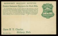 Clarke's Centennial Express to the Black Hills Unused Cover on U221