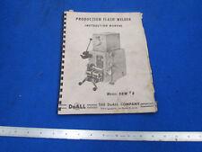 DoAll Manual for DBW #8 Blade Welder            E-0999