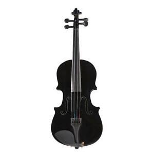 prettygood7 1/8 Natürliche Akustik Geige Geige Fiddle mit Koffer Bogen Kolo #LY