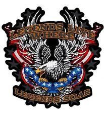 Legends Live Where Legends Soar Embroidered Biker Patch Iron or Sew HLPM20478