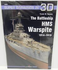 Kagero 16039 - Super Drawings in 3D, The Battleship HMS Warspite 1914 - 19  Book
