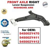 1x FRONT AXLE RIGHT Lower Wishbone ARM for OEM: 545002Y470 545002Y411 545002Y412