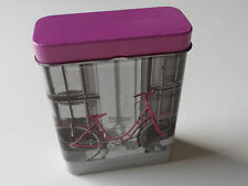 ITP Imports Pink Bicycle Design Upright Cigarette / Cards Tin 9.5 cm FREE P&P UK