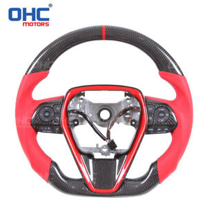 FOR TOYOTA CAMRY 100% REAL CARBON FIBER STEERING WHEEL