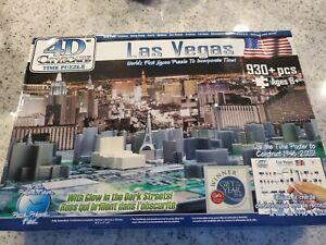 Las Vegas Nevada Cityscape 4D 1200 Pieces Vegas History collectable