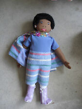 "Tiny Universe Abira Ali Cloth Black Woman Doll Ms Behave 20"" Tall"