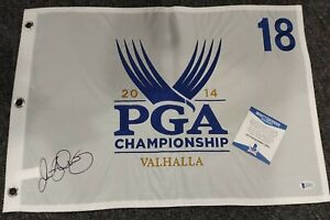 Rory McIlroy Signed Autographed 2014 PGA Championship Pin Flag VALHALLA BECKETT