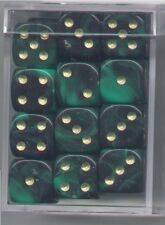NEW Dice Cube Set of 36 D6 (12mm) - Oblivion Green