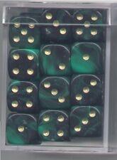 NEW Dice Cube Set of 36 D6 (12mm) - Oblivion Green