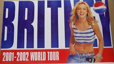 Britney Spears 2001 - 2002 World Tour Poster Sponsered By Pepsi