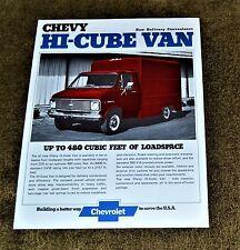 VTG 1973 ADV 1974 Chevy Hi-Cube Van Brochure NM