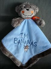 N107 Carters I'm Bananas Monkey Security Blanket Infant Baby Nursery Home Decor