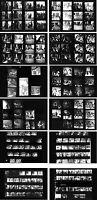 Jimi Hendrix Hamburg 1967 & Fehmarn 1970, 12 pages photo negative contact sheets