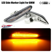 2pcs LED Side Marker Light Signal Blinker Lamp For BMW E82 E88 E90 E91 E92 ~