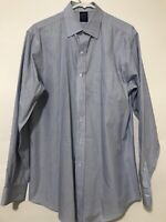 Brooks Brothers Mens Long Sleeve Button Down Dress Shirt Blue Yellow Size 16