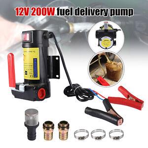 Electric 12V Fuel Transfer Pump Oil Gas Gasoline Kerosene Car Tractor US