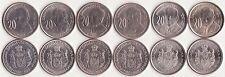 SERBIA COMPLETE COMMEMORATIVE COIN SET 20 Dinara x6 COINS 2006-2012 UNC LOT of 6
