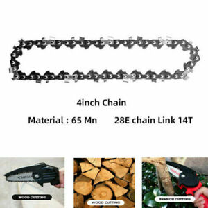Mini Steel 4 Inch Chainsaw Chain Link Electric Saw Accessory Replacement Chains