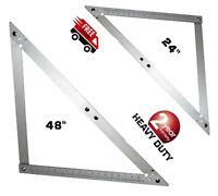 New Heavy Duty Folding Frame Square 60&120cm metric imperial building Aluminium