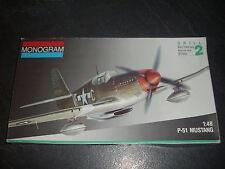 MONOGRAM  P-51 MUSTANG  PLASTIC MODEL 1/48