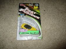 Die-Cast The Fast And The Furious 2003 Dodge Viper SRT-10 Yellow 1:64 MOC