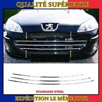 Chrome Grille de Calandre 3 pcs INOXYDABLE Peugeot 407 Break Berline Coupe