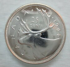 1966 CANADA 25 CENTS PROOF-LIKE SILVER QUARTER COIN