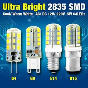 Ultrabright 1/4/8x G4/G9/E12/E14/B15 LED Corn Bulb 12/220V Cool Warm White Lamp