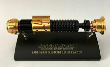 GOLD SW-304 Star Wars Lightsaber .45 Master Replicas Obi Wan Collectors Society