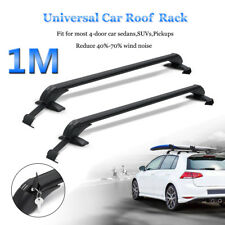 Pair Universal Roof Rack Cross Bars Luggage Carrier + Rubber Gasket For 4DR Car