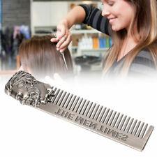 1 Pcs Brushed Stainless Steel Metal Trim Beard Hair Mustache Comb Nice Fashion