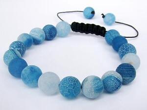 Men's Bracelet all 10mm Effloresce AGATE gemstone natural beads